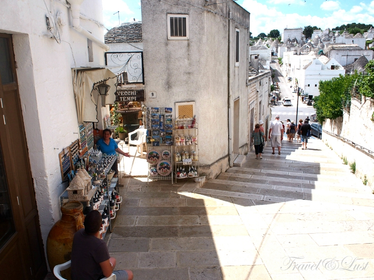 Since the trullis in Alberobello was named on the UNESCO World Heritage website, they have turned into a very touristy destination.