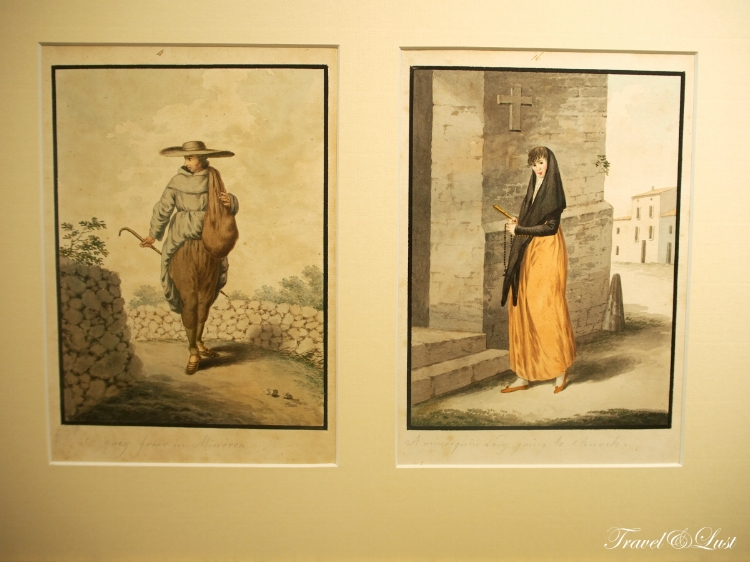 'De Chiesa a Ramon Cavaller' temporary exhibition. You can see the descriptive ways of living of the people in Menorca historically.