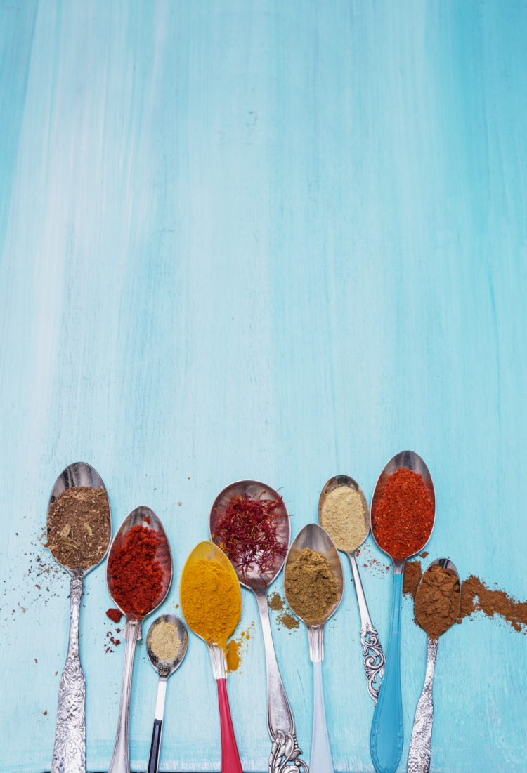 Ground spices. Photo © Camilla Lindqvist