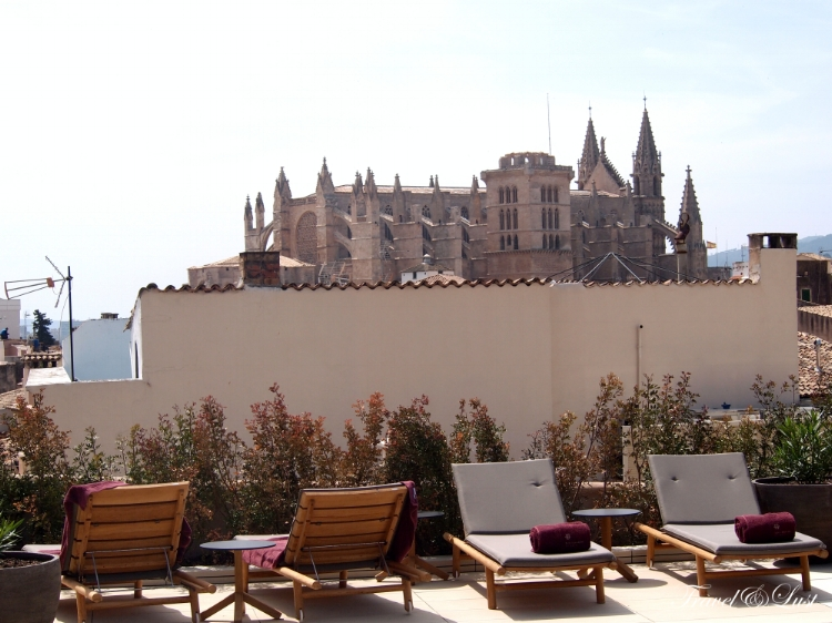 Amazing views from the rooftop of the Hotel Sant Francesc.
