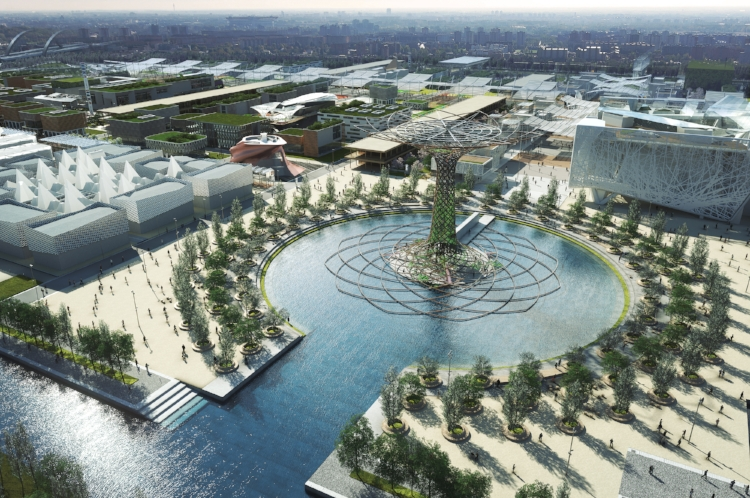 Lake Arena is imagined as an island, the site is surrounded by a canal that introduces one of the primary constituent factors of this extraordinary landscape.