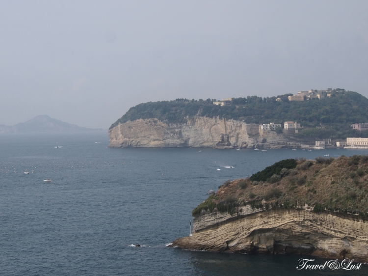 From the Pausilypon Archaeological Park you can see views of the Parco Virgiliano, a scenic park located on the hill of Posillipo, Naples, Italy, also the Islands of Gaiola and Nisida, a volcanic islet of the Flegrean Islands archipelago.