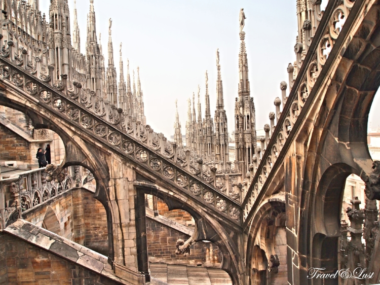 A visit to the roof-top of the Duomo is a must - one of the highest points of the city.