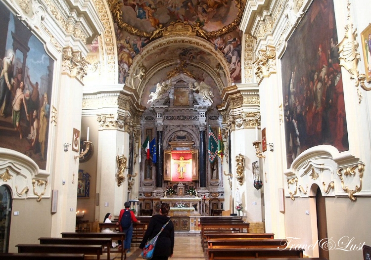 See the Catholic churches of Chiesa di Sant'Andrea, Saint Pietro Alle Scale, Chiesa di San Cristoforo and many others.