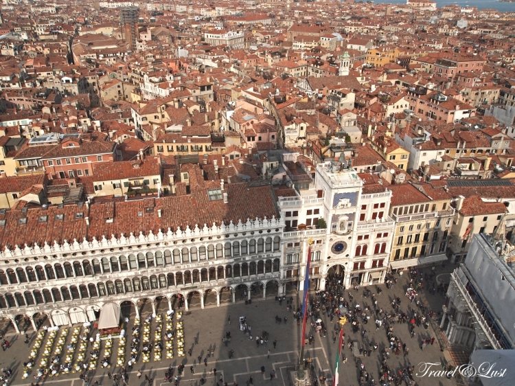 View from the bell tower of St. Mark's Square.