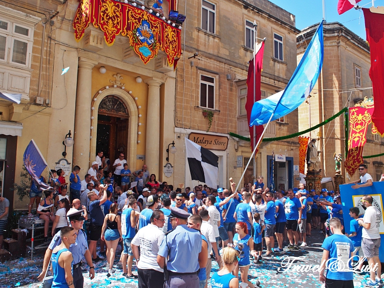 Celebrating The Feast of Saint Dominic with music and dancing in Vittoriosa (Birgu).