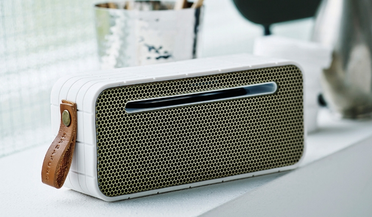 Bluetooth speakers by  Kreafunk , perfect for the beach or whilst travelling. Compact, wireless and with built-in battery.