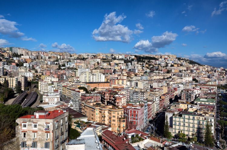 View of Chiaia in Naples