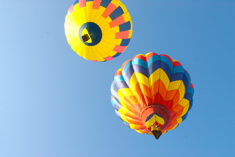 Enjoy some of the best views from a hot air balloon above Halkidiki.
