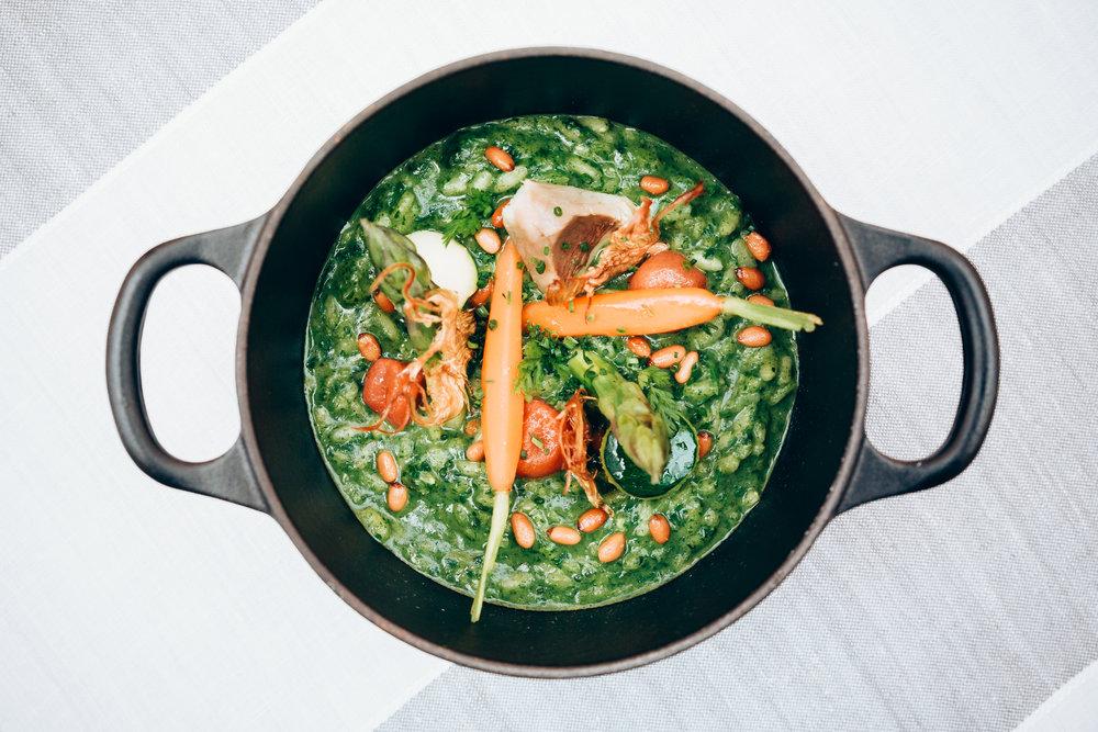Mediterranean dishes with a modern twist served at 'Quadrat'Restaurant.
