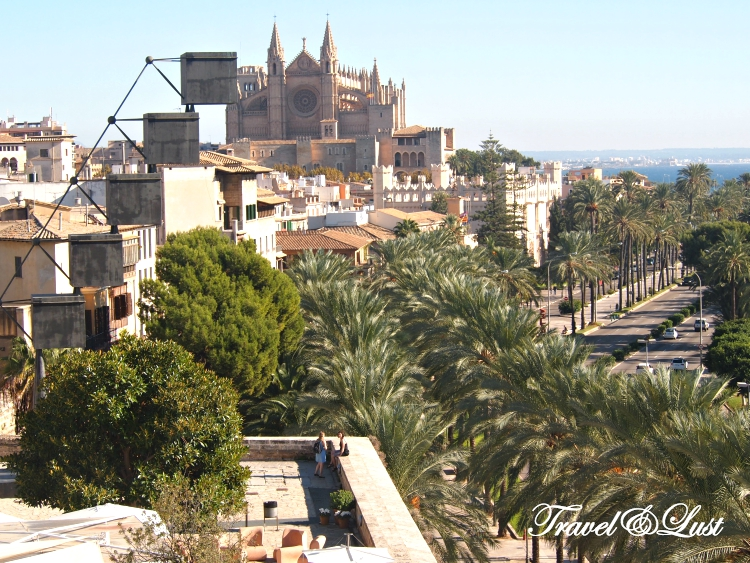Pic of Mallorca from above the Es Baluard Restaurant & Lounge terrace area.