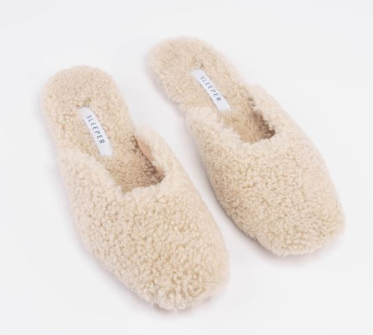 Here are lightweight, warm slippers that are as good outdoors as they are indoors by Sleeper. They are fashionable, handmade and boast a cool square toe that will rock with many a frock. Comfort is guaranteed thanks to the sheepskin found on both the upper and insole. Treat yourself or someone this year.