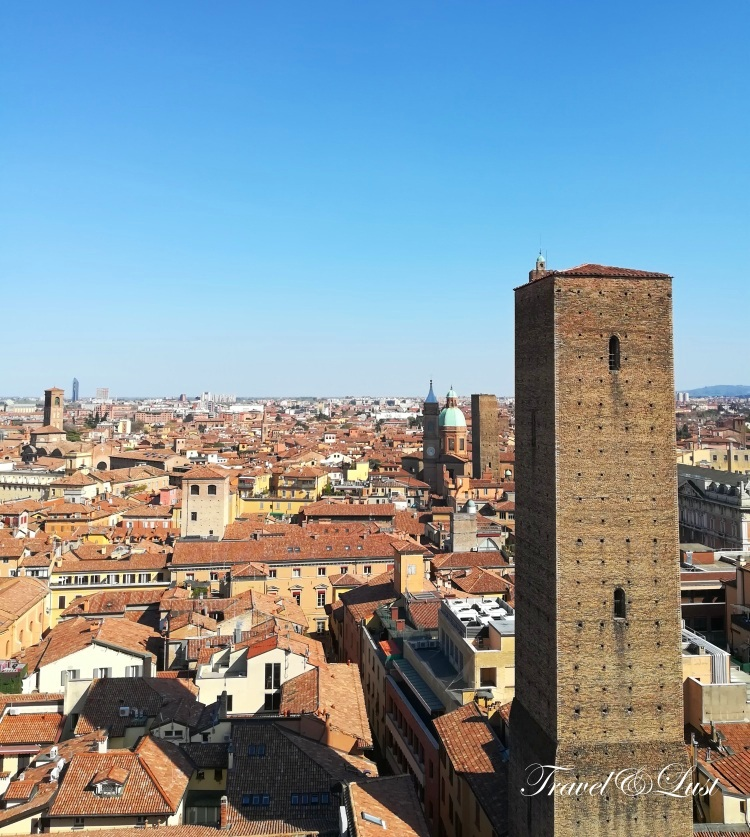 Views from up high at the bell tower of San Francesco in Piazza Malpighi.