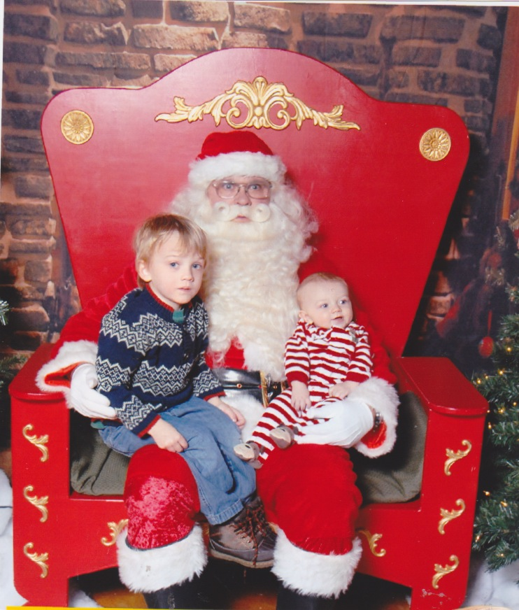 I think Santa is just as terrified as Chase
