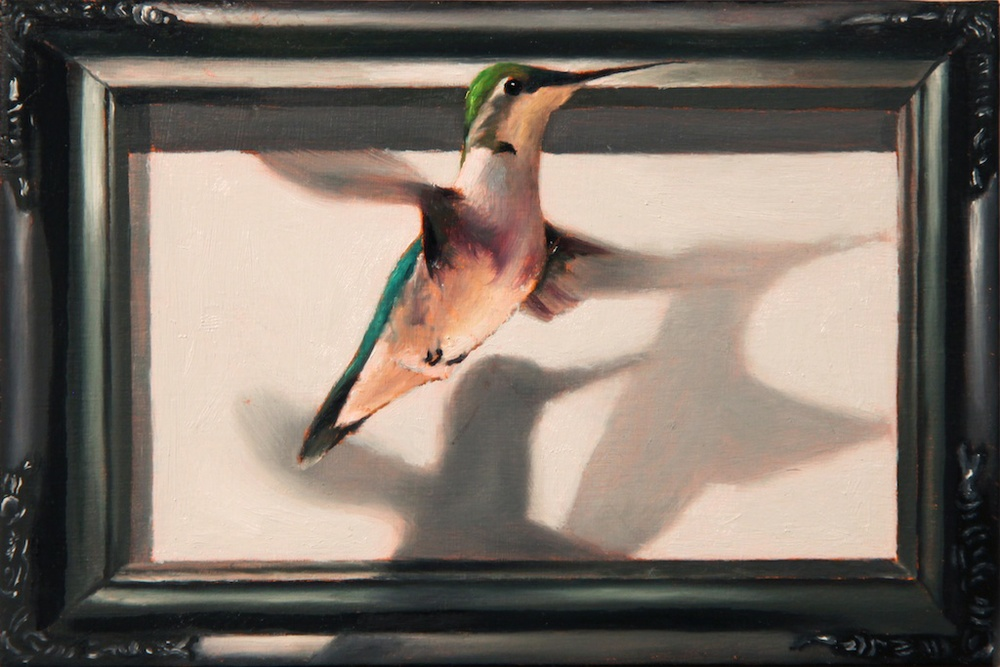 "Fly By 4"" x 6"" oil on panel SOLD"