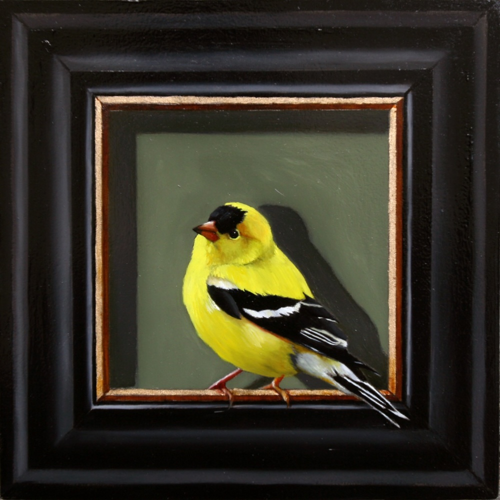 "Mr. Optimistic 8"" x 8"" oil on panel SOLD"