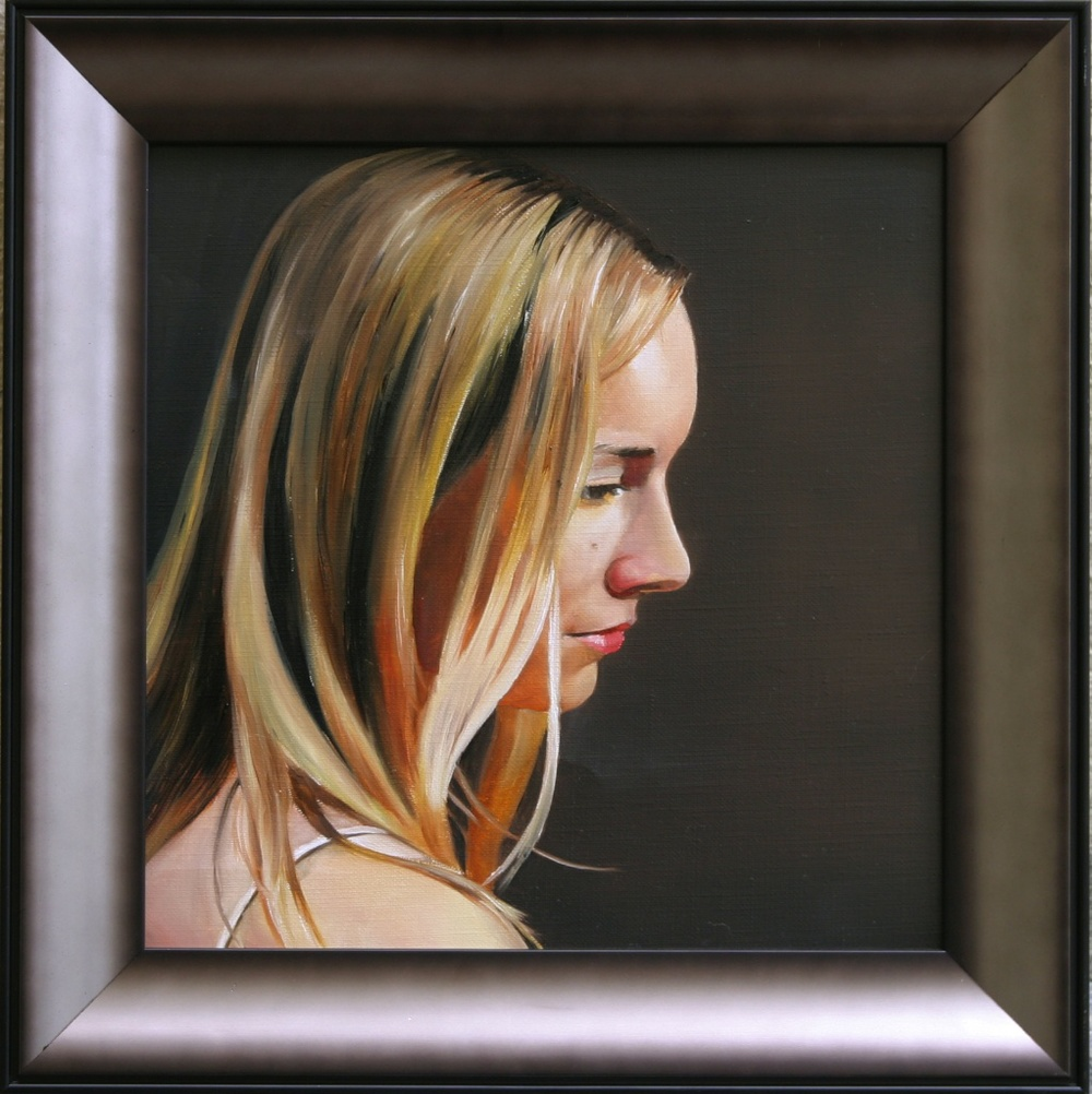 "Contemplation  12"" x 12"" Oil on Linen SOLD"
