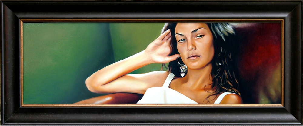 "Look Away  12"" x 36"" Oil on Linen SOLD"
