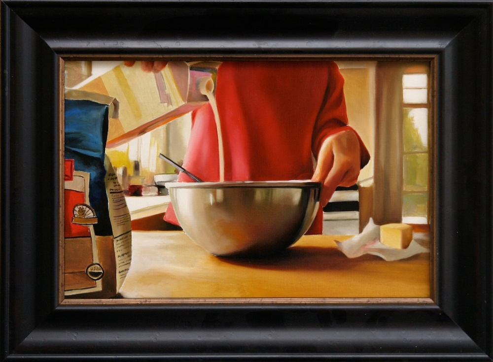 "Sunday Recipe 12"" x 18"" oil on linen SOLD"