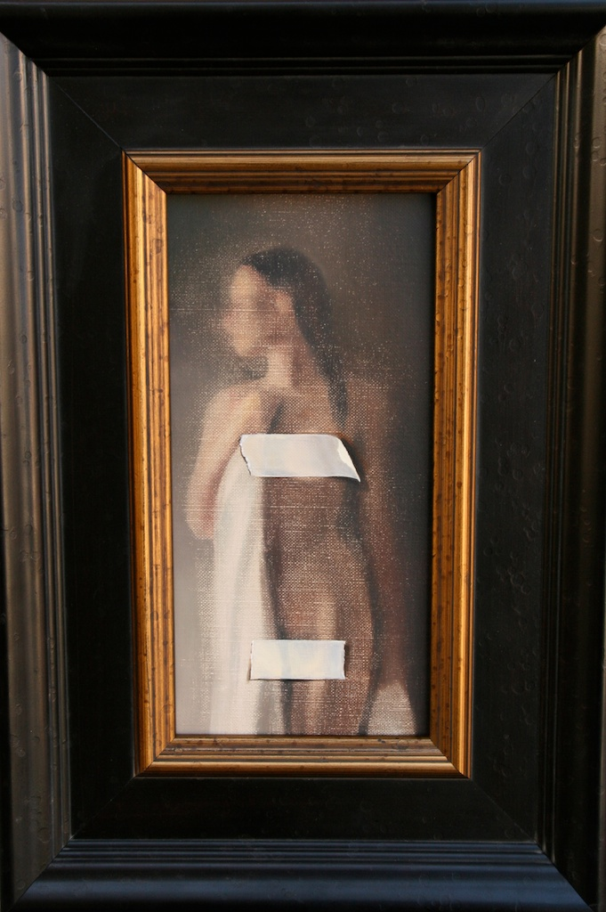 "Censored  6"" x 12"" Oil on Linen SOLD"
