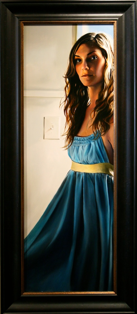 "Where Do I Begin 12"" x 36"" Oil on Linen SOLD"