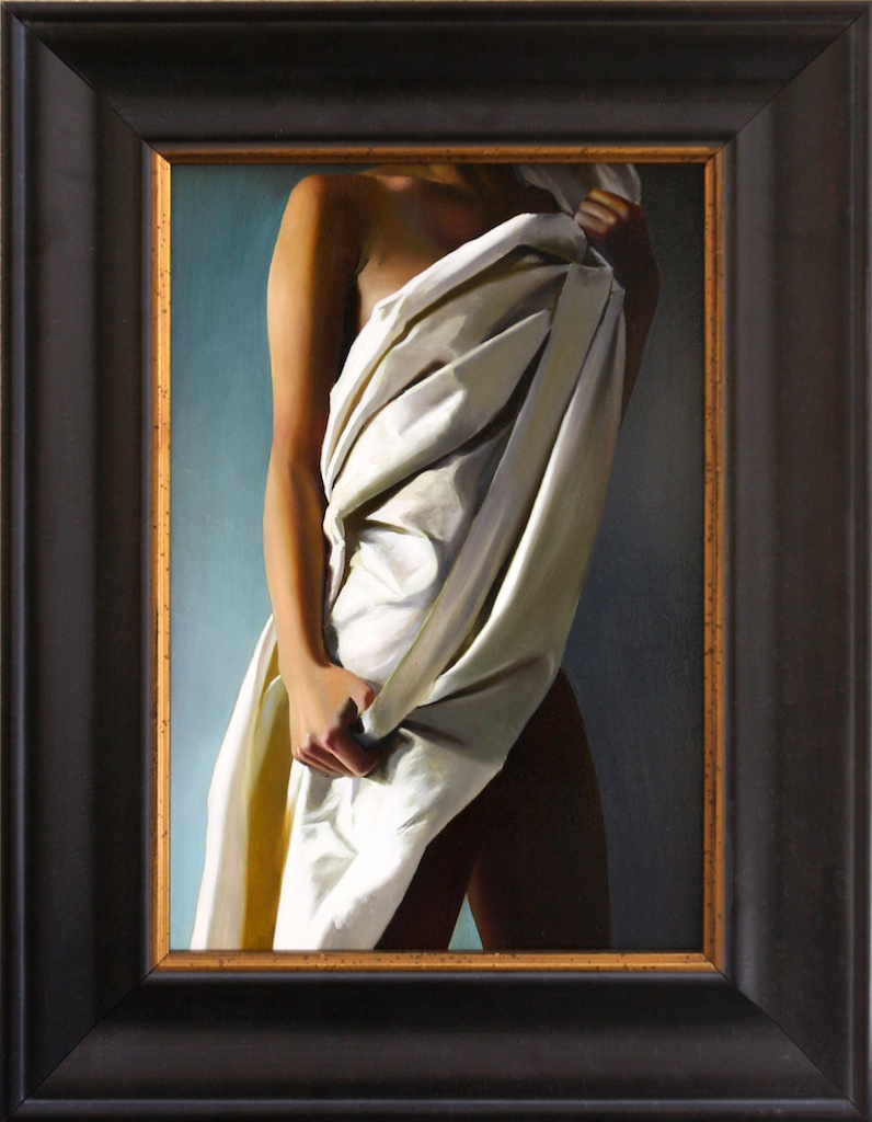 "His Model, Painted (The Dressing) 10"" x 15"" Oil on Panel SOLD"