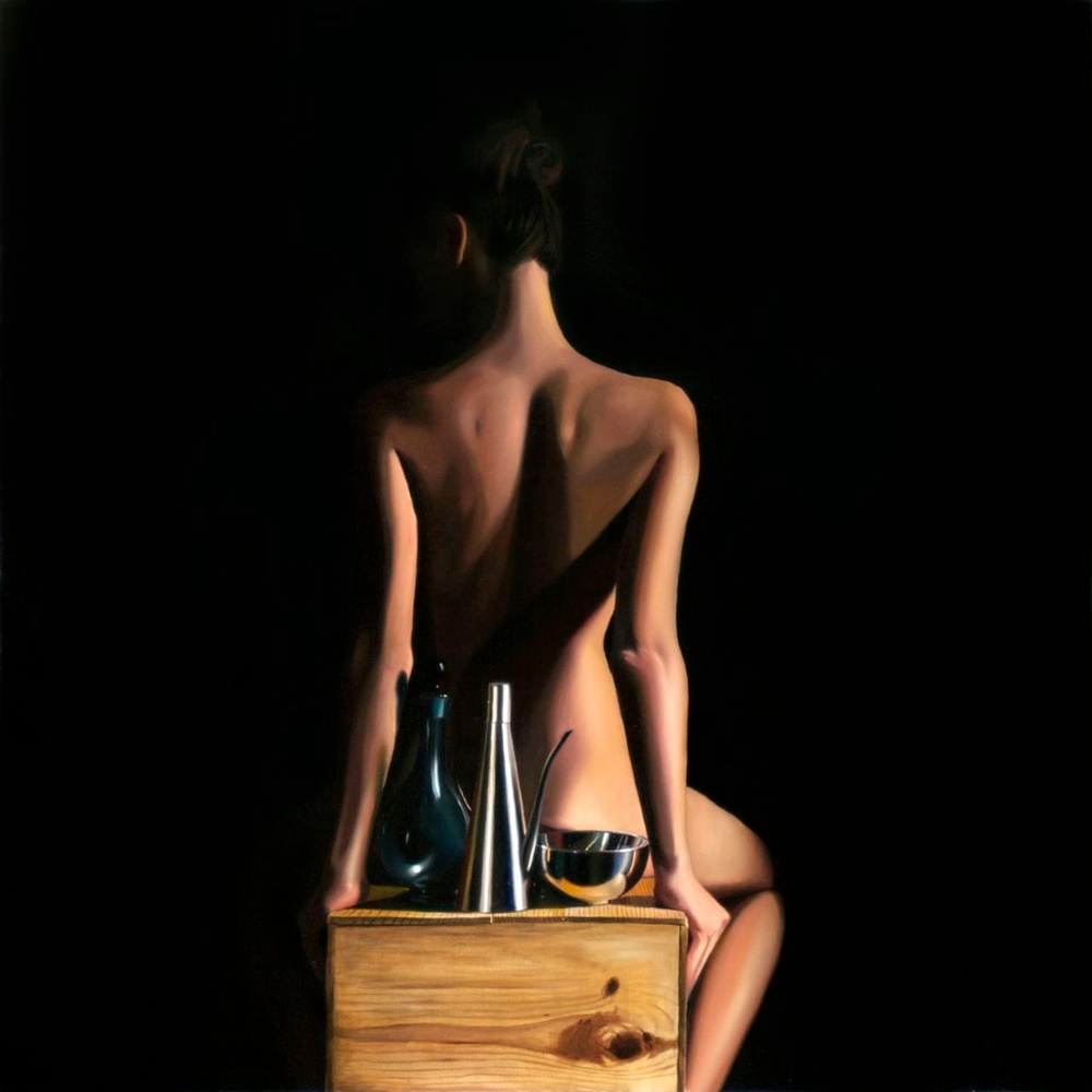"Still + Life 30"" x 30"" oil on panel SOLD"