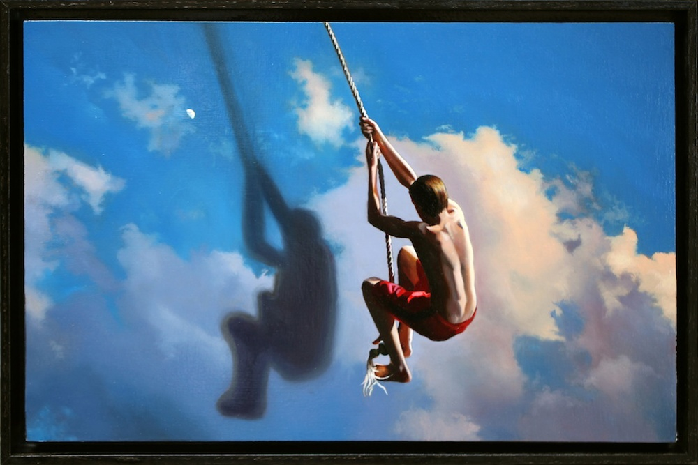 "In the Swing of Things 12"" x 18"" oil on panel SOLD"