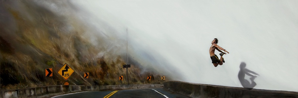 "Embracing Change"" 12"" x 36"" oil on panel SOLD"