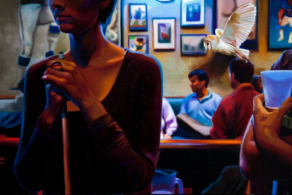 "Nightlife 12 x 18"" oil on panel SOLD"