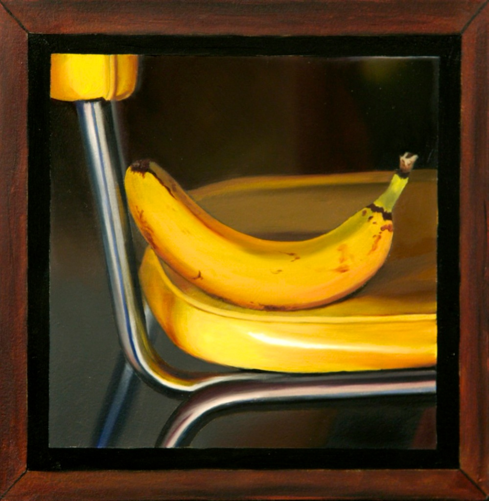 "Banana Seat 8"" x 8"" oil on panel SOLD"