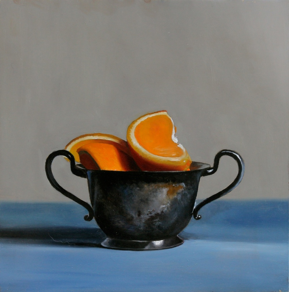 "Slice 8"" x 8"" oil on Panel SOLD"