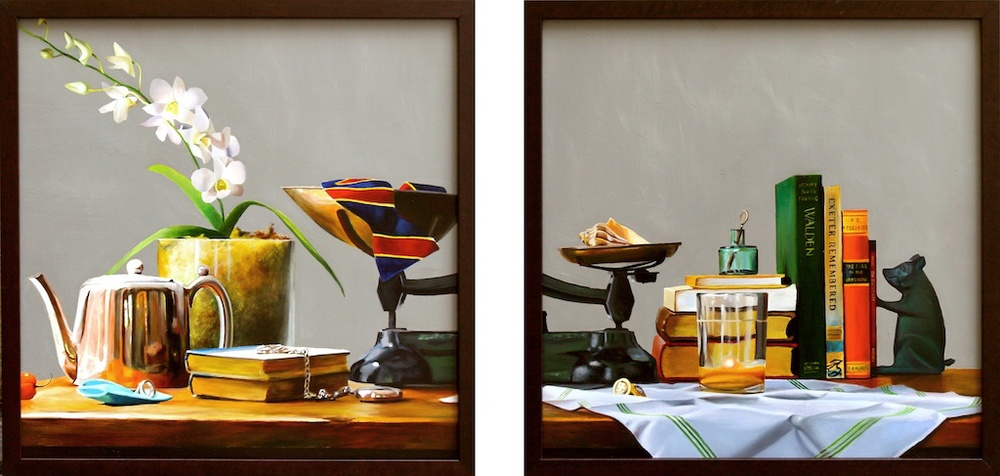 "Balanced 18"" x 18"" (set of two) Oil on Panel SOLD"