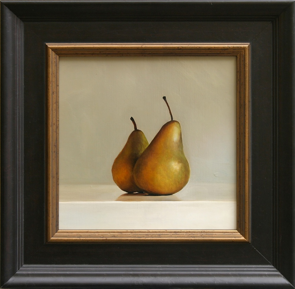 "The Companion Pears 12"" x 12"" Oil on Linen SOLD"
