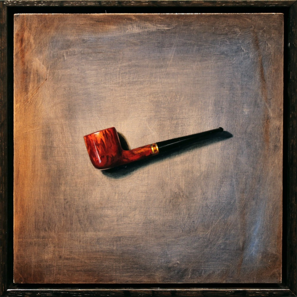 "This is Not My Pipe 12"" x 12"" oil on panel SOLD"