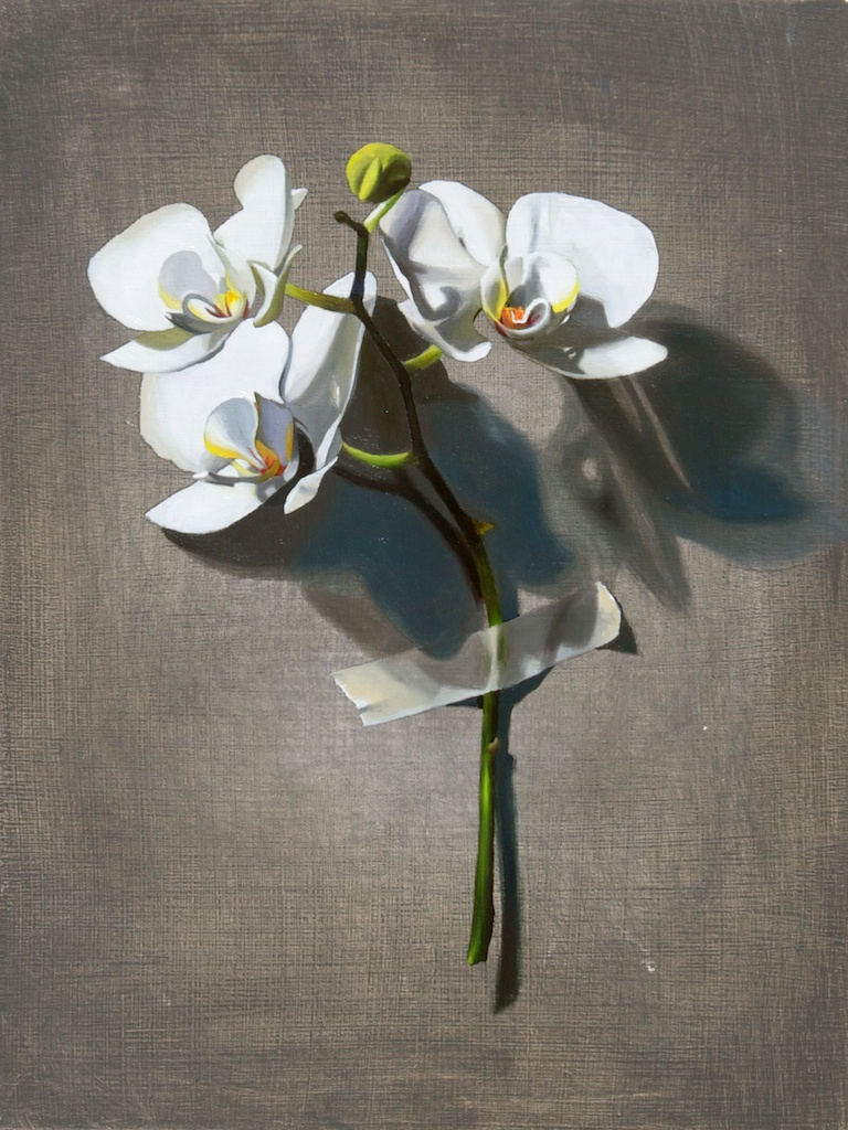"This Is Also Not An Orchid 9"" x 12"" oil on panel SOLD"