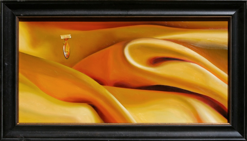 "Satin Sea 18"" x 36"" oil on linen SOLD"