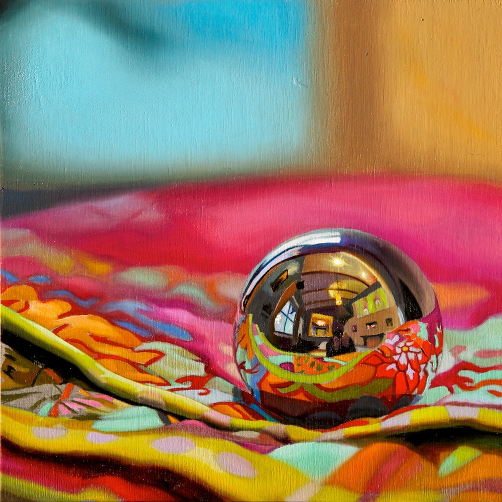 "Spectrum 8"" x 8"" oil on panel SOLD"