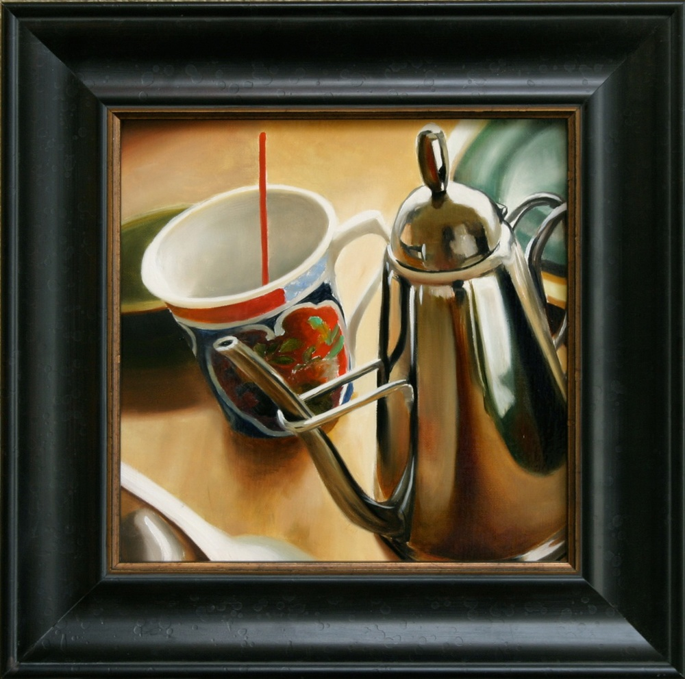 "Her Mother's China 12"" x 12"" Oil on Linen SOLD"