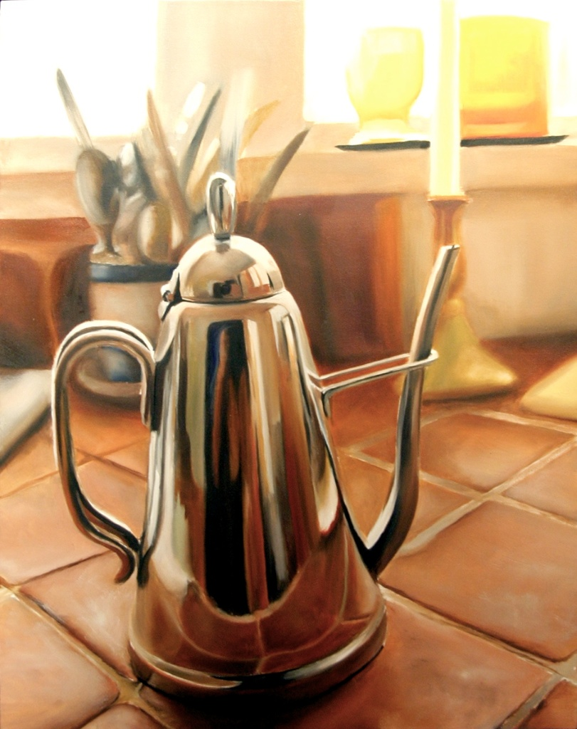 "The Echoing Kettle 22"" x 28"" Oil on Canvas SOLD"