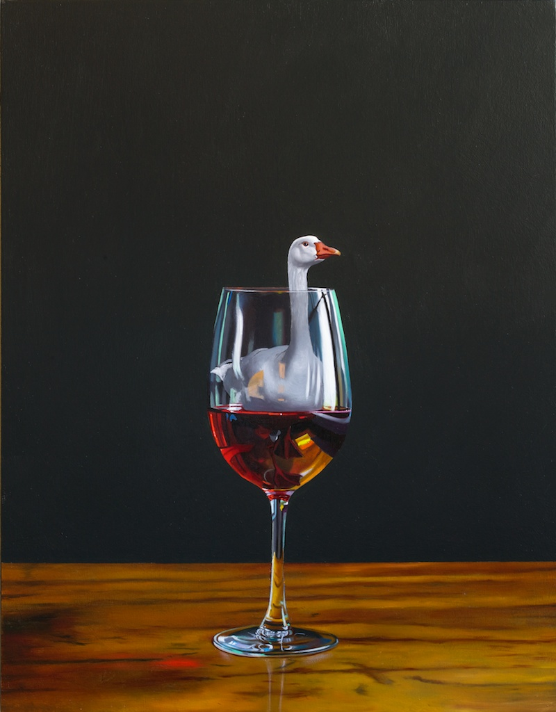 "I'll Have The Goose 14"" x 18"" oil on panel"