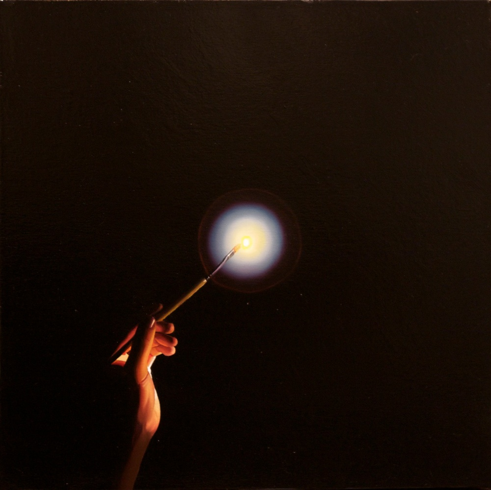 "Light Touch 18"" x 18"" oil on linen SOLD"