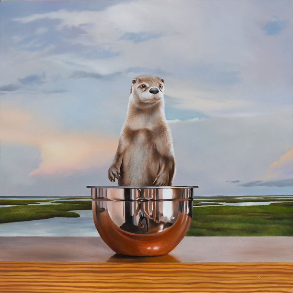 "The Kiawotter 24"" x 24"" oil on panel"