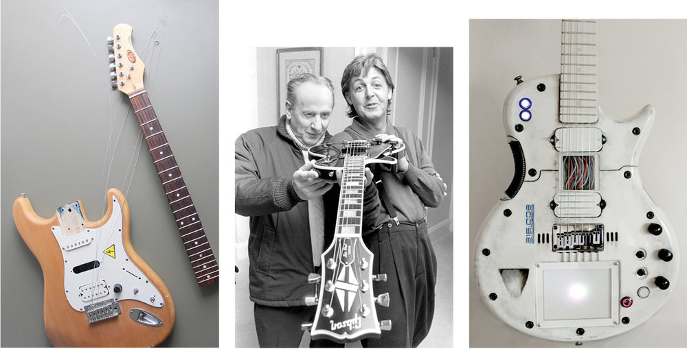 Inspiration:  The fact that the first electric guitar models, Gibson Les Paul and Fender Stratocaster, are still the most popular ones proves the genius of their inventors. They remained mostly unchanged since the 1950's. But that doesn't stop one from experimenting...