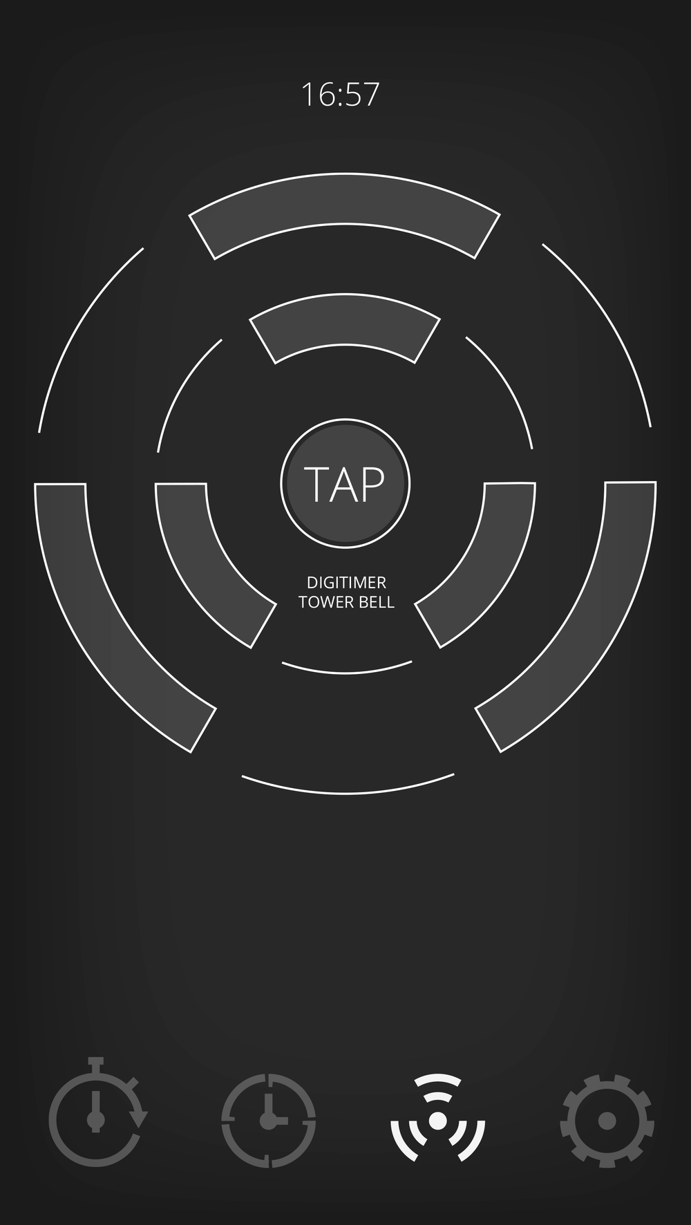 Tap:  When active, you can tap your phone and it will respond with the time.Uses a pattern of vibrations when the sound is off.