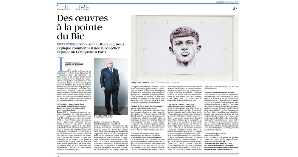 THE KID in LE FIGARO Newspaper - Leading National Daily Newspaper - Print Issue - France - June 03 2018 - Page 27 - Page 27 copie - Article.jpg