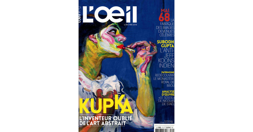 THE KID in L OEIL Magazine - May 2018 Print Issue - France - Pages 112 and 113 - Cover page - 150dpi - Web wb.jpg