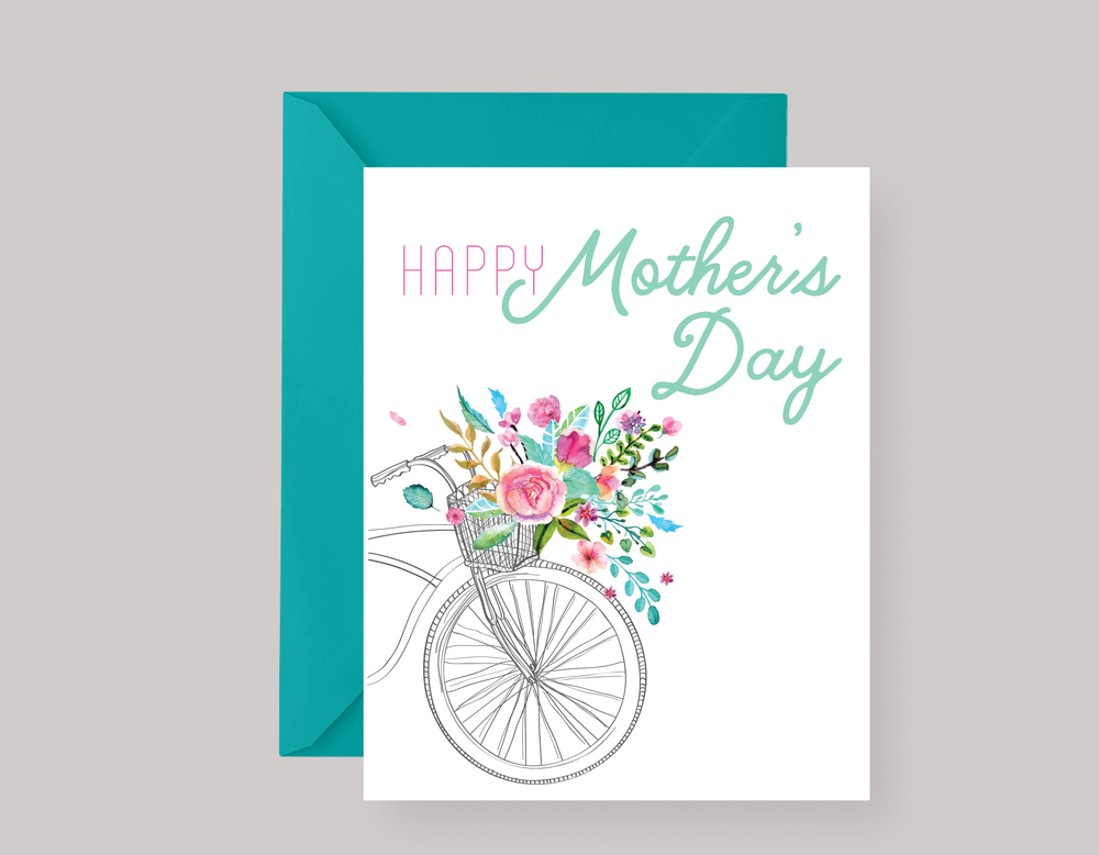 BIKE MOTHER'S DAY CARD $4.00+