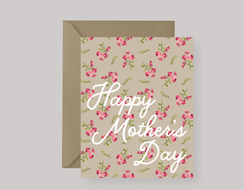 PINK FLORAL MOTHER'S DAY CARD $4.00+
