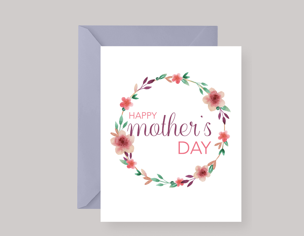 PURPLE FLORAL MOTHER'S DAY CARD $4.00+